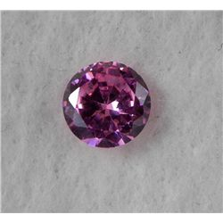 6.5 ct Natural Zircon Gemstone, Round Shaped Pink