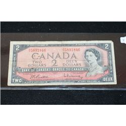 1954 Canada $2 Foreign Bank Note