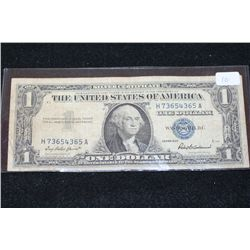 1957 US Silver Certificate $1; Blue Seal