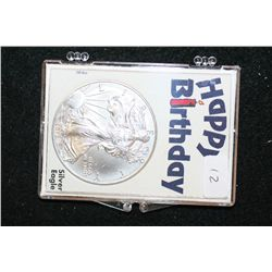 "2012 Silver Eagle $1; Silver Eagle ""Happy Birthday"""