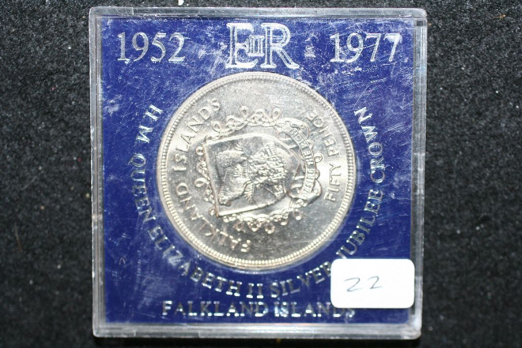 Falkland Islands 50 Pence Foreign Coin Queen Elizabeth Ii