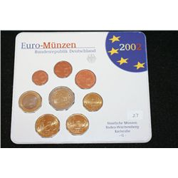 2002-G German Mint Foreign Coin Set; Lot of 8