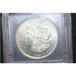 1921 Silver Morgan $1; ICG Graded MS62