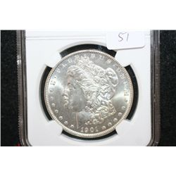 1901-O Silver Morgan $1; NGC Graded MS64