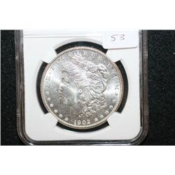 1902-O Silver Morgan $1; NGC Graded MS64