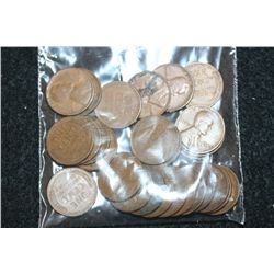 Lincoln Wheat Back Penny; Various Dates & Conditions; Lot of 25