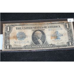 1923 US Silver Certificate $1; Blue Seal; Large Washington Bill