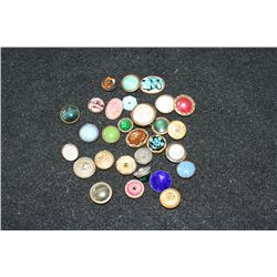 Antique Buttons; Lot of 29
