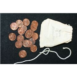 1971-P Lincoln Penny; Lot of 20 In Mini Bank Bag