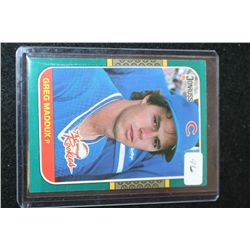 1987 MLB Donruss Greg Maddux Chicago Cubs The Rookies Baseball Trading Card