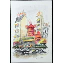 Urbain Huchet Signed Ltd Ed Print Moulin Rouge, Paris