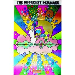 Peter Max, The Different Drummer Clothing Store on Lex. Ave, NYC, Poster