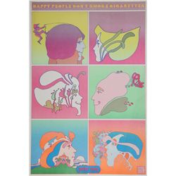 Peter Max, Happy People Don't Smoke American Cancer Society, Poster