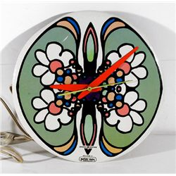 Peter Max, Green with Orange Daisies, General Electric Clock