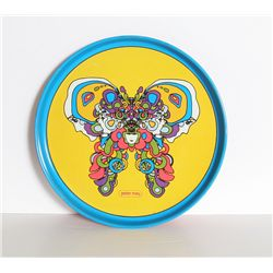 Peter Max, Butterfly Tray, Metal Tray