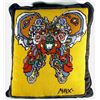 Peter Max, Yellow Butterfly Pillow