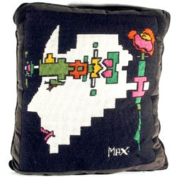 Peter Max, Geometric Portrait Pillow