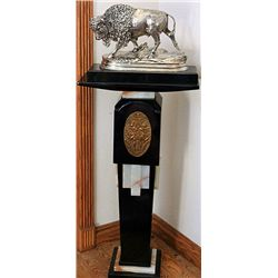 Signed Silver Alfred Dubucand Bronze Sculpture  Buffalo 