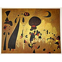 Miro Lithograph-  COMPOSITION