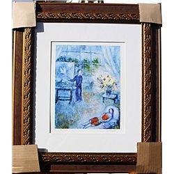 Artist and Bouqet  - Chagall - Limited Edition