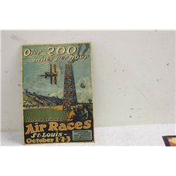 """TERRIFIC ADVERTISING - GREAT COLOR ON TIN - ARTIST SIGNED - 17"""" X 12"""""""