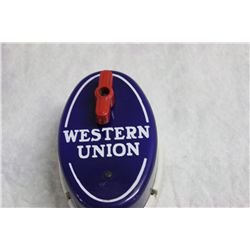 """HARD TO FIND WESTERN UNION CALL BOX ALL PERCELAIN - 6"""" X 4"""""""
