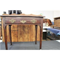 """EARLY 1 DRAWER STAND IN MAHOGANY - 26"""" HIGH - 18.5"""" DEEP - 30"""" TOP"""