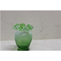"""HOBNAIL OPALESCENT IN GREEN - 6"""""""