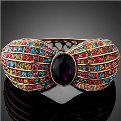 GT0522120046 Gorgeous Eggplant Center Crystal Multicolo