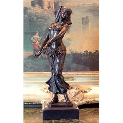 Charming Bronze Sculpture Belly Dancer