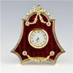 Faberge Red Enameled Clock Frame
