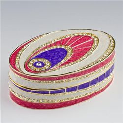 Crystal Eye Faberge Style Jewelry Box