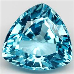 6.99 Carat Natural Gemstone Trillion Swiss Blue Topaz