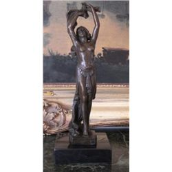 Radient Bronze Sculpture Nude Dancer