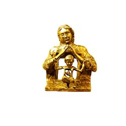 Salvador Dali Magnificent Original, 24K Gold limited Edition Bronze - The First Study For The Madonn