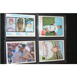 MLB Baseball Trading Cards; Various Dates, Players & Teams; Lot of 4