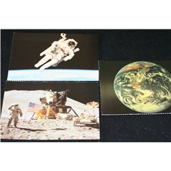 2002 Dover Publications Lunar Post Cards; Lot of 3