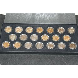 2005 & 2006 State Quarter Set; P&D Mints; Layered in Gold & Platinum; Lot of 20