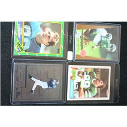 NFL & MLB Trading Cards; Various Dates, Players & Teams; Lot of 4