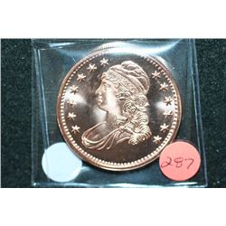 """Liberty Bust"" Copper Round; .999 Fine Copper 1 Oz."