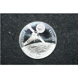 Sterling Silver Round; America's First Close-Up Lunar Photos-Ranger VII; Ranger 7 reached the moon t