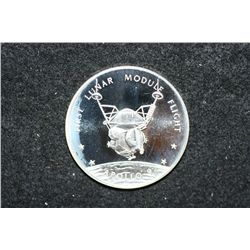 Sterling Silver Round; First Lunar Module Flight-Apollo 9; A Lunar Excursion Module was flown separa