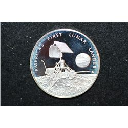 America's First Lunar Lander Sterling Round; Surveyor I landed on the Moon's Ocean of Storms and tel