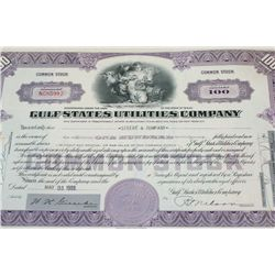 Gulf States Utilities Co. Stock Certificate Dated 1988