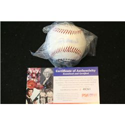 Stan Muscial Autographed Baseball; COA Included