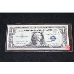 1957-B US Silver Certificate $1; Blue Seal