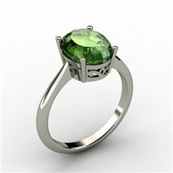 Tourmaline 2.90 ctw Ring 14kt White Gold