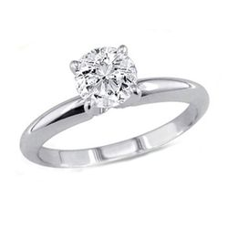 0.75 ct Round cut Diamond Solitaire Ring, G-H, VVS