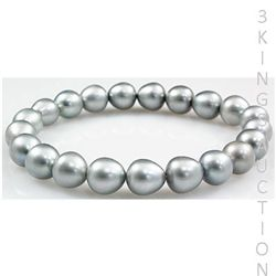110.36ctw Natural Freshwater Round Pearls Bracelet