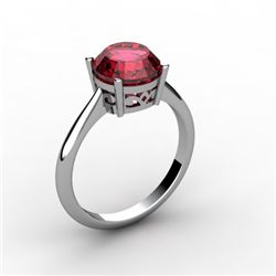 Garnet 2.50 ctw Ring 14kt White Gold